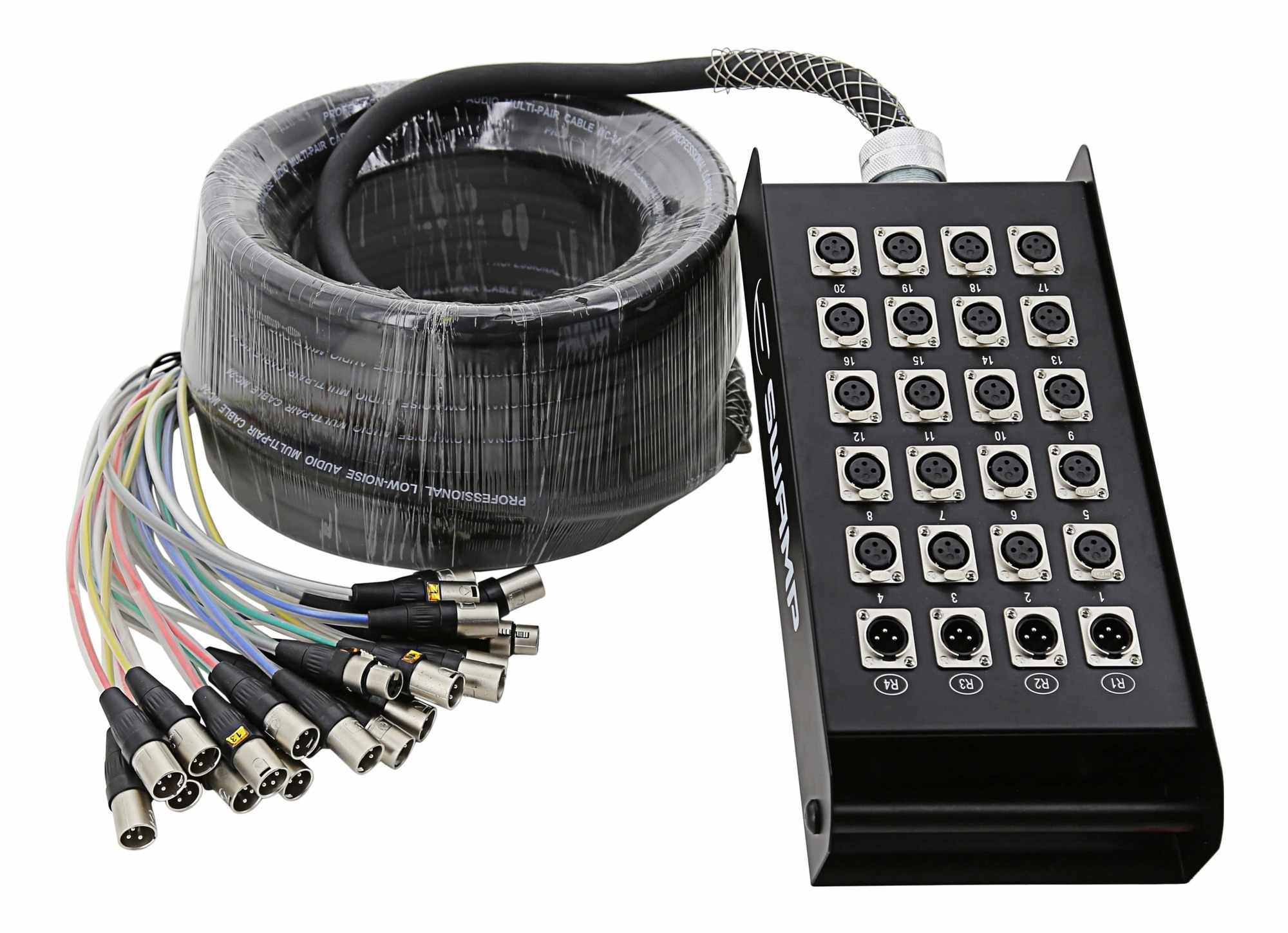 24 channel multicore cable w/ stage box - 20m