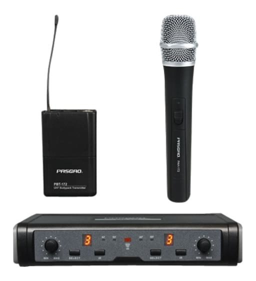 PASGAO PAW-266 Wireless Microphone System - 1 Handheld 1 Bodypack