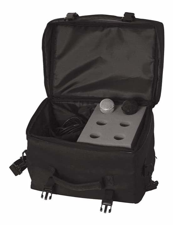 On Stage OSMB7006 6-Space Microphone Bag with Cable Compartment