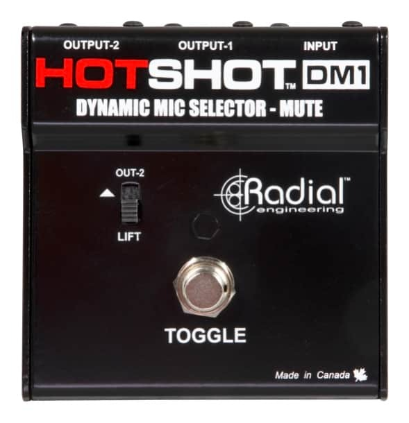 Radial HotShot DM-1 Dynamic Microphone Switcher