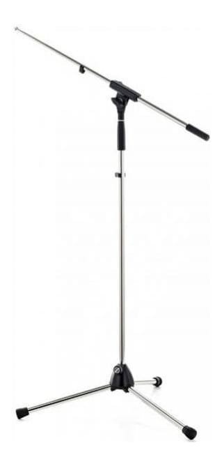 K&M 210/6 Tripod Microphone Stand with Fixed Boom - Chrome