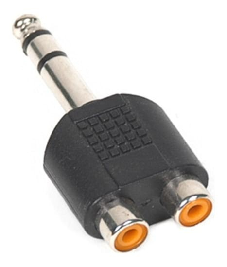 "Audio Adapter - 2x RCA female to 1/4"" male Stereo TRS"