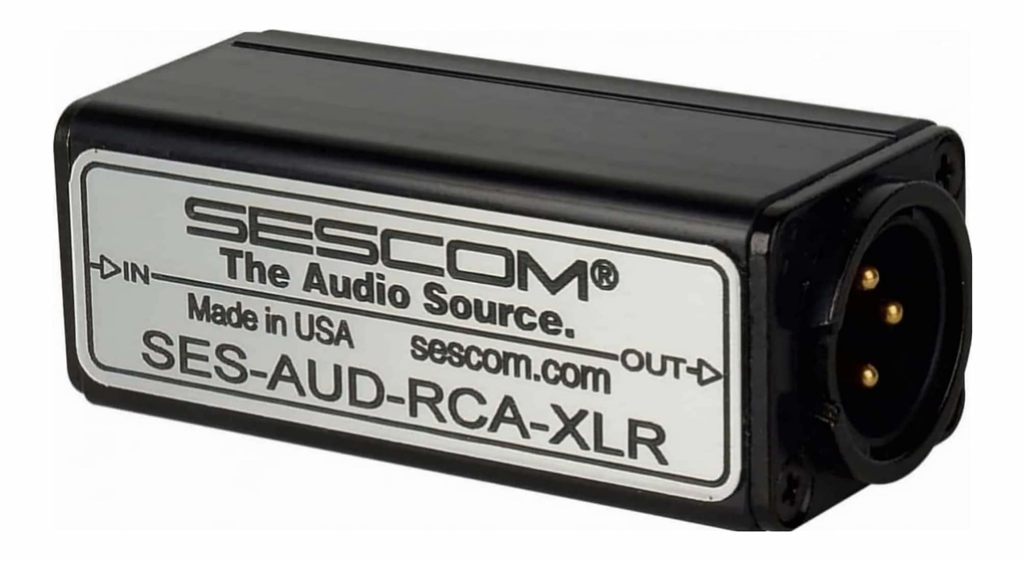 Sescom Aud Rca Xlr 1 Channel To Unbalanced Balanced Audio Wiring