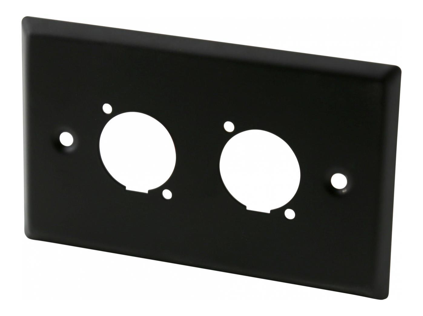 Swamp TWR2-B Wall Plate - Dual Panel Mount Connector