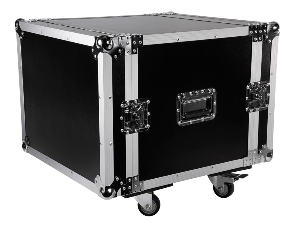 SWAMP Wooden Shockproof 19 inch Rack 8U Flight / Road Case on Wheels