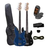 P-Bass Style Electric Bass Guitar Pack