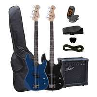 Electric Bass Guitar and Amplifier Starter Pack