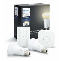 Philips HUE A19  WiFi Enabled Lighting Starter Kit with Dimming Switch E27