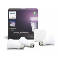Philips HUE WiFi Enabled Lighting Starter Kit with HUE Bridge E27