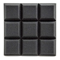 AVE ISOGrid Acoustic Foam Panel Charcoal - 10 Pack