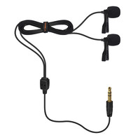 COMICA CVM-D02 Dual-head Lavalier Microphone for Smartphone, Camera, Gopro