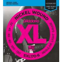D'Addario EXL170-6 Electric 6-string Bass Guitar Strings 32-130