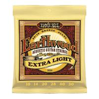 Ernie Ball 2006 Earthwood Ex Light Acoustic Guitar Strings 80/20 Bronze 10-50