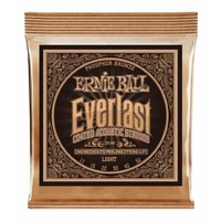 Ernie Ball 2548 Everlast Light Coated Phosphor Bronze Acoustic Guitar Strings