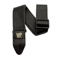 "Ernie Ball 2"" Tri Glide Italian Leather Guitar Strap - Black"