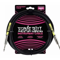 Ernie Ball 6048 10' Straight/Straight Instrument Cable - Black