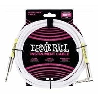 Ernie Ball 6049 10' Straight/Angle Instrument Cable - White