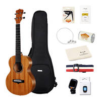 Enya EY-KUC-MA Concert Ukulele Mahogany with Gig Bag Tuner Strings Strap