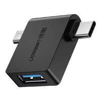 UGREEN 30453 2-in-1 USB-C Micro USB OTG Adapter