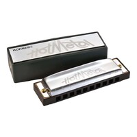 Hohner Enthusiast Series Hot Metal Harmonica - Key of A
