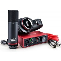 Focusrite Scarlett Solo Gen 3 Studio Pack with Interface Condenser Mic and H/P