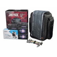 JOYO Jam Pack Pedalboard Set featuring Pedals Cables Power Carpet and Carry Bag