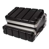 SWAMP 2U - 4U ABS DJ Road Case - 6U Top DJ Mixer Space