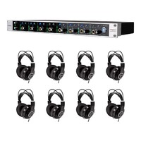 ALCTRON HP800 8 Channel Headphone Monitoring Amplifier with 8x iSK Headphones