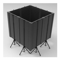 Portable Foam Panel Vocal Booth Isolation Package - 1.2m Cube