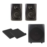 "Monkey Banana Gibbon 5"" Powered Studio Monitors + Active 10"" Subwoofer - Black"