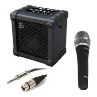 Wandering Busker Mic and Amp Package - 10W Battery Powered Amp