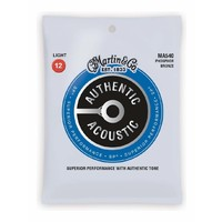 Martin MA540 SP Phosphor Bronze Authentic Acoustic Guitar Strings Light 12-54