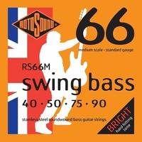 Rotosound RS66M Swing Bass 66 Medium Scale 40-90 Stainless Bass Strings