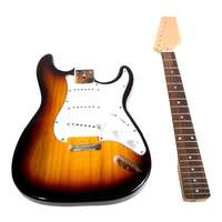 SWAMP DIY Build Your Own Electric Guitar Kit - Sunburst Stratocaster Style