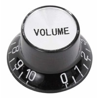 Volume Control Dial For Electric Guitar - Black