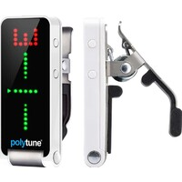 TC Electronic PT2 Polytune 2 Clip-On Polyphonic Guitar Tuner - White