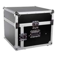SWAMP Wooden 19 inch Rack 6U DJ Road Case with Top Mixer Space