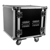 SWAMP Wooden Shockproof 19 inch Rack 10U Flight / Road Case on Wheels