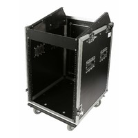 "SWAMP Wood Shockproof 16U Side Rack 10U Mixer Top 19"" Flight Road Case on Wheels"