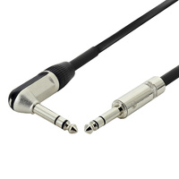 Balanced TRS Cable w/ Right-Angle Jack